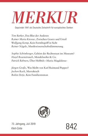 MERKUR Gegründet 1947 als Deutsche Zeitschrift für europäisches Denken – 2019-7 von Demand,  Christian