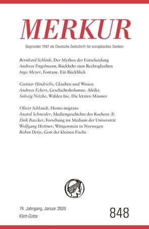 MERKUR Gegründet 1947 als Deutsche Zeitschrift für europäisches Denken – 2020-01 von Demand,  Christian