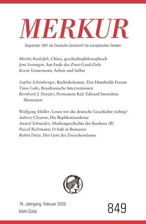 MERKUR Gegründet 1947 als Deutsche Zeitschrift für europäisches Denken – 2020-02 von Demand,  Christian