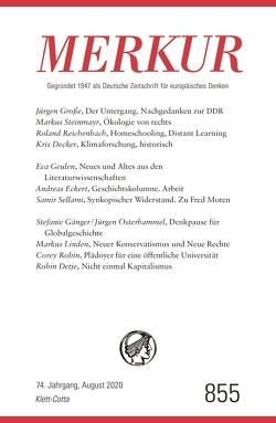 MERKUR Gegründet 1947 als Deutsche Zeitschrift für europäisches Denken – 2020-08 von Demand,  Christian