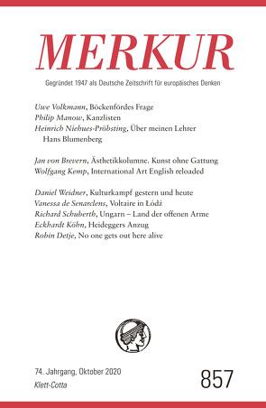 MERKUR Gegründet 1947 als Deutsche Zeitschrift für europäisches Denken – 2020-10 von Demand,  Christian