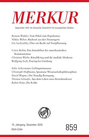 MERKUR Gegründet 1947 als Deutsche Zeitschrift für europäisches Denken – 2020-12 von Demand,  Christian