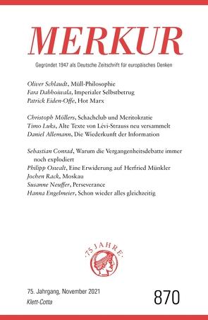 MERKUR Gegründet 1947 als Deutsche Zeitschrift für europäisches Denken – 2021-11 von Demand,  Christian