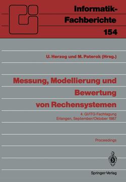 Messung, Modellierung und Bewertung von Rechensystemen von Herzog,  Ulrich, Paterok,  Martin