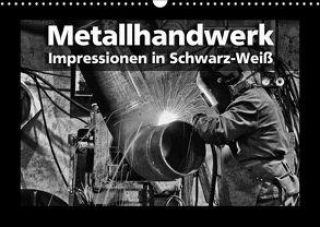 Metallhandwerk – Impressionen in Schwarz-Weiß (Wandkalender 2018 DIN A3 quer) von Bomhoff,  Gerhard