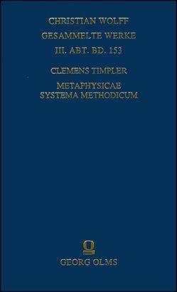 Metaphysicae systema methodicum von Aichele,  Alexander, Timpler,  Clemens
