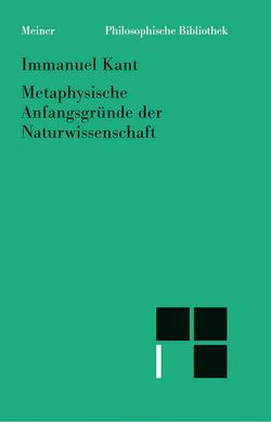 Metaphysische Anfangsgründe der Naturwissenschaft von Kant,  Immanuel, Pollok,  Konstantin