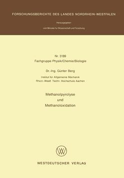 Methanolpyrolyse und Methanoloxidation von Berg,  Günter