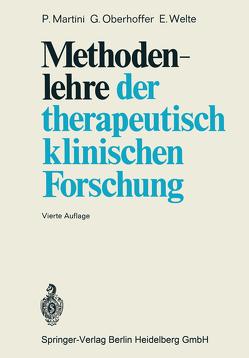 Methodenlehre der therapeutisch-klinischen Forschung von Martini,  P., Oberhoffer,  G., Welte,  E.
