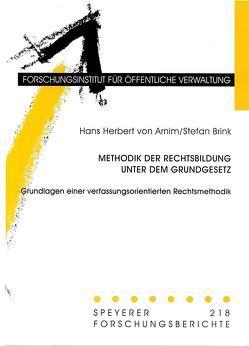 Methodik der Rechtsbildung unter dem Grundgesetz von Arnim,  Hans H von, Brink,  Stefan