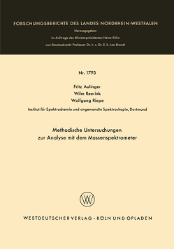 Methodische Untersuchungen zur Analyse mit dem Massenspektrometer von Aulinger,  Fritz