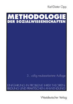 Methodologie der Sozialwissenschaften von Opp,  Karl-Dieter