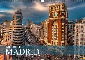 Metropole Madrid (Wandkalender 2018 DIN A3 quer) von Meutzner,  Dirk