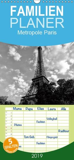 Metropole Paris – Familienplaner hoch (Wandkalender 2019 , 21 cm x 45 cm, hoch) von kattobello