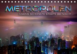Metropolen – Asiens schönste Städte bei Nacht (Tischkalender 2019 DIN A5 quer) von Bleicher,  Renate