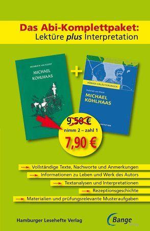 Michael Kohlhaas – Das Abi-Komplettpaket: Lektüre plus Interpretation. von Kleist,  Heinrich von