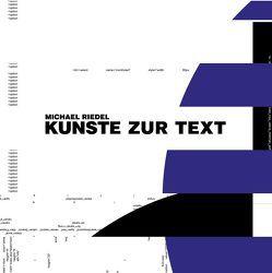 Michael Riedel. Kunste zur Text von Hollein,  Max, Ulrich,  Matthias