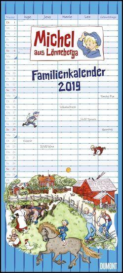 Michel aus Lönneberga Familienkalender 2019 – Familien-Planer mit 5 Spalten – Format 22 x 49 cm von Berg,  Björn, DUMONT Kalenderverlag