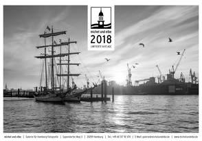 michel und elbe Kalender 2018 – Schwarzweiss von Schmidt-Wiethoff,  Andreas