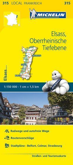 Michelin Elsass Oberrheinische Tiefebene