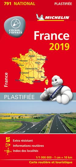 Michelin Frankreich 2019 (plastifiziert)