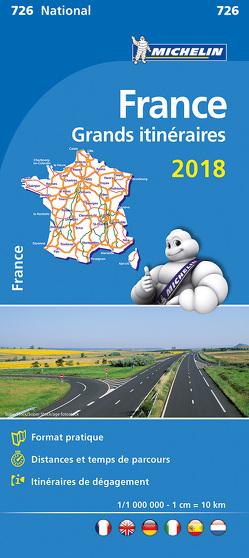 Michelin Frankreich Fernrouten 2019