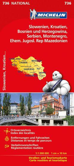 Michelin Slowenien Montenegro Bosnien Kroatien Serbien