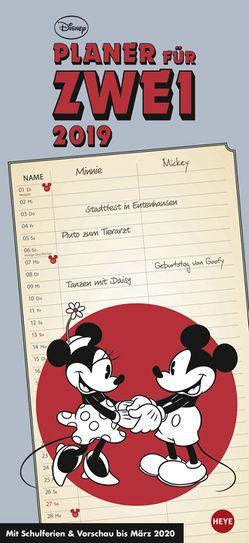 Mickey Mouse & Minnie Planer für zwei – Kalender 2019 von Heye