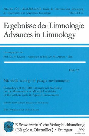 Microbial ecology of pelagic environments von Bjørnsen,  Peter K, Riemann,  Bo