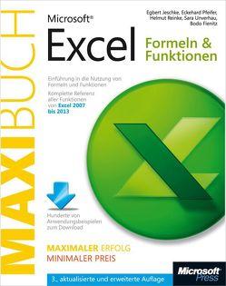 Microsoft Excel: Formeln & Funktionen – Das Maxibuch. 3., aktualisierte und erweiterte Auflage für Excel 2007 bis 2013 von Fienitz,  Bodo, Jeschke,  Egbert, Pfeifer,  Eckehard, Reinke,  Helmut, Unverhau,  Sara