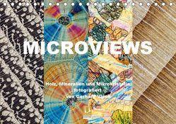 Microviews – Holz, Mineralien und Mikrokristalle (Tischkalender 2019 DIN A5 quer) von Vlcek,  Gerhard