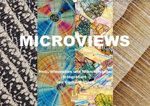 Microviews – Holz, Mineralien und Mikrokristalle (Wandkalender 2018 DIN A2 quer) von Vlcek,  Gerhard