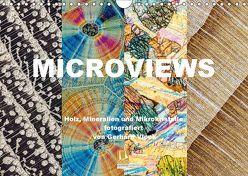 Microviews – Holz, Mineralien und Mikrokristalle (Wandkalender 2019 DIN A4 quer) von Vlcek,  Gerhard