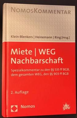 Miete | WEG | Nachbarschaft von Heinemann,  Jörn, Klein-Blenkers,  Friedrich, Ring,  Gerhard