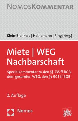 Miete – WEG – Nachbarschaft von Heinemann,  Jörn, Klein-Blenkers,  Friedrich, Ring,  Gerhard