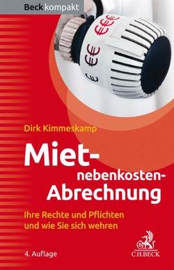 Mietnebenkosten-Abrechnung von Kimmeskamp,  Dirk