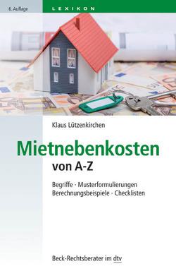 Mietnebenkosten von A-Z von Lützenkirchen,  Klaus