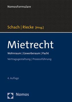 Mietrecht von Riecke,  Olaf, Schach,  Klaus