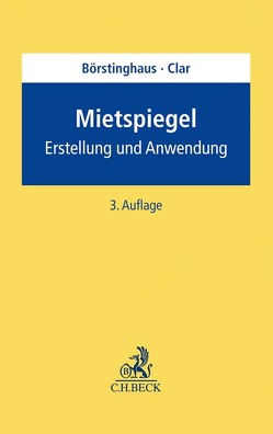 Mietspiegel von Börstinghaus,  Ulf P., Clar,  Michael