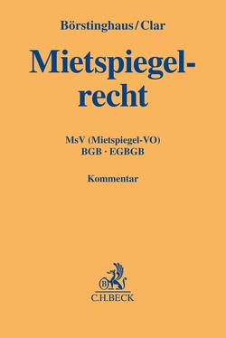 Mietspiegelverordnung von Börstinghaus,  Ulf, Clar,  Michael