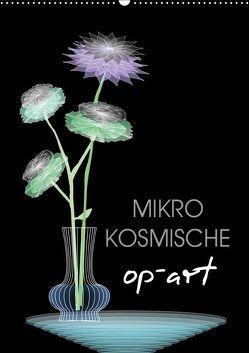Mikro Kosmische op-Art (Wandkalender 2019 DIN A2 hoch) von U. Irle,  Dag
