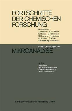 Mikroanalyse von Lorenz,  I., Tölg,  G.
