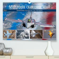 Militärjets aus aller Welt (Premium, hochwertiger DIN A2 Wandkalender 2021, Kunstdruck in Hochglanz) von Breidenstein,  Timo