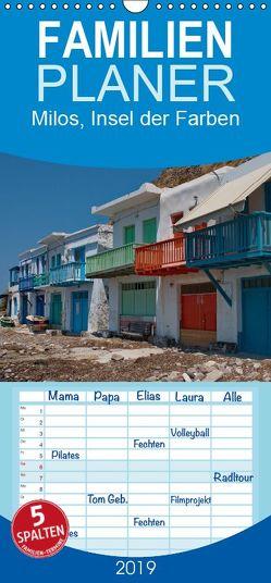 Milos, Insel der Farben – Familienplaner hoch (Wandkalender 2019 , 21 cm x 45 cm, hoch) von Dummermuth,  Stefan