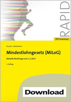 Mindestlohngesetz (MiLoG) von Krusche,  Saskia, Steinheimer,  Jörg