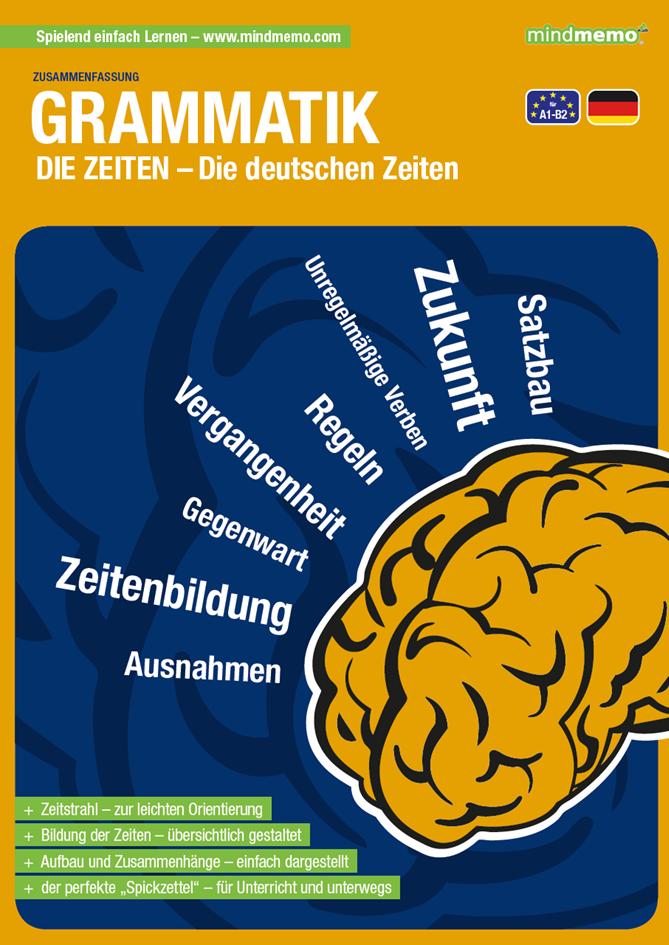 Mindmemo Lernfolder Die Deutschen Zeiten Deutsche Grammatik Lernhi