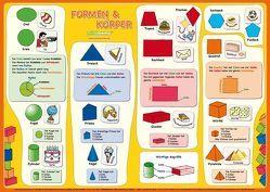 mindmemo Lernposter – Formen & Körper – Das Geometrie Poster Grundschule von Fischer,  Henry, Henneböhl,  Stefanie, Hunstein,  Philipp