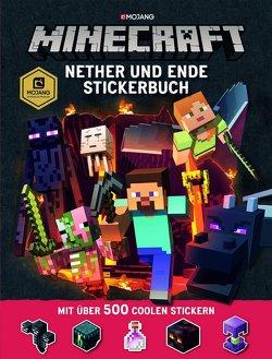 Minecraft, Nether und Ende – Stickerbuch von Shanel,  Josef, Wissnet,  Matthias
