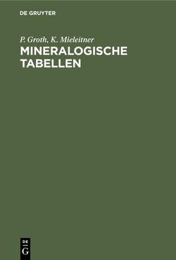 Mineralogische Tabellen von Groth,  P., Mieleitner,  K.