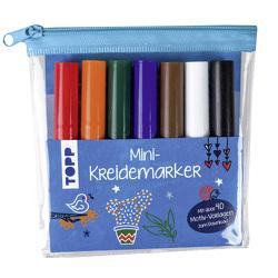 Mini-Kreidemarker Set mit dunklen Farben (blau) von frechverlag